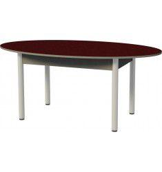 Стол обеденный хром овальный