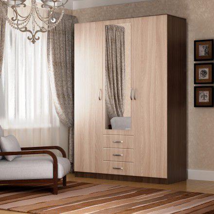Шкаф (3 двери + ящики + зеркало)